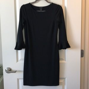 Ann Taylor Factory Fitted dress with bell sleeves